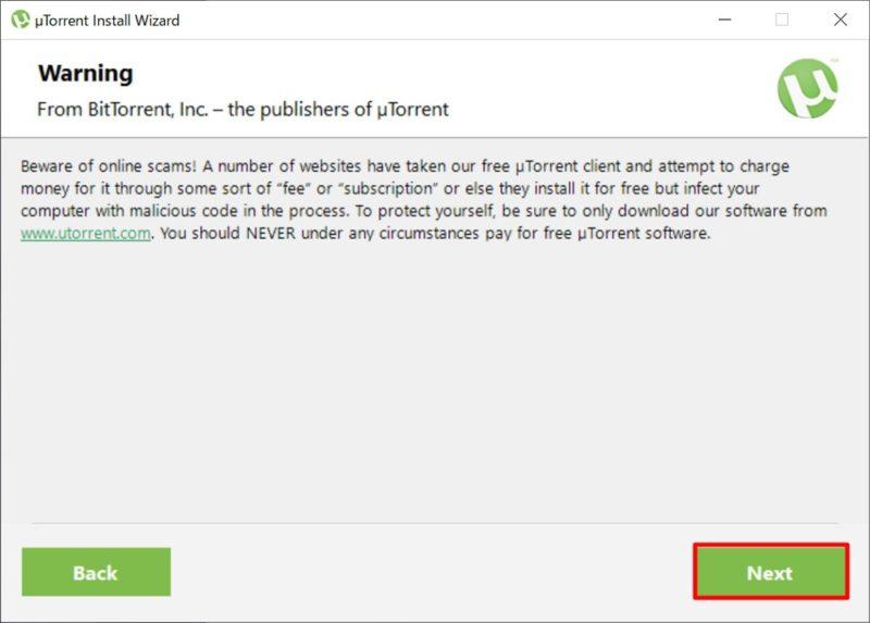 「uTorrent」のインストール