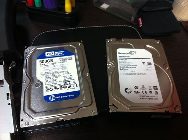 バッファローのハードディスクを分解
