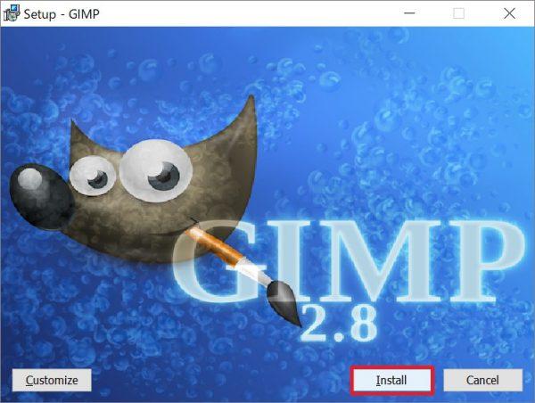 GIMP(ギンプ)のインストール方法&日本語化について