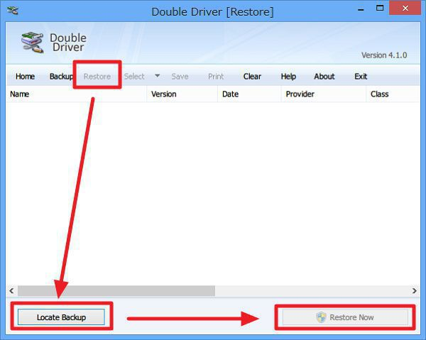 Double Driverの使い方