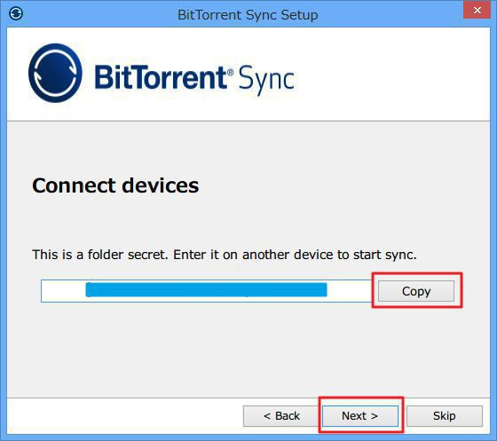 BitTorrent Syncのインストール方法