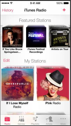 iOS7 iTunes Radio