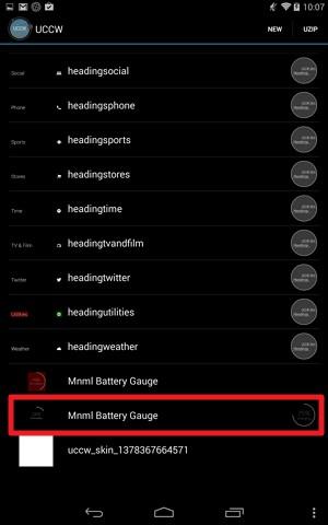 UCCW:⑤Mnml Battery Gaugeの追加