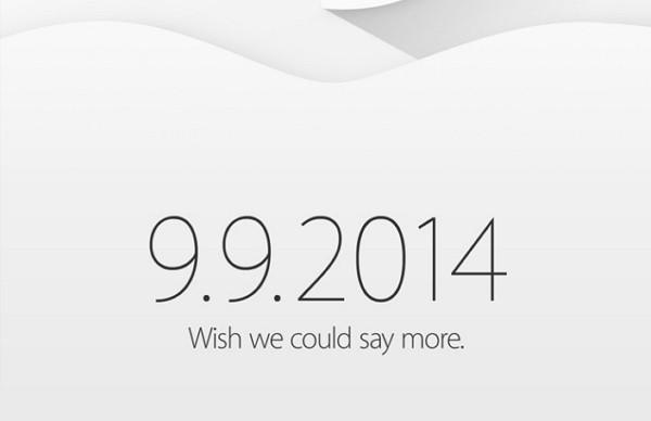 Appleが正式に新製品の発表イベントを「2014年9月9日(日本時間9月10日早朝、おそらく午前2時ごろ)」に開催することを正式に発表
