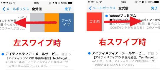 iOS 8の使い方:メールの削除を右スワイプで!