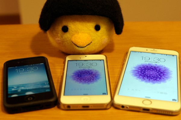 iphone 6 plus, iphone 5, iphone 4 の活用状況