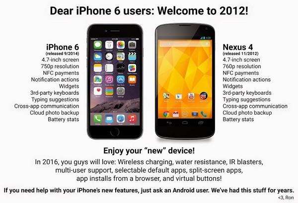 親愛なるiPhone 6ユーザーの皆さん、2012年へようこそ!