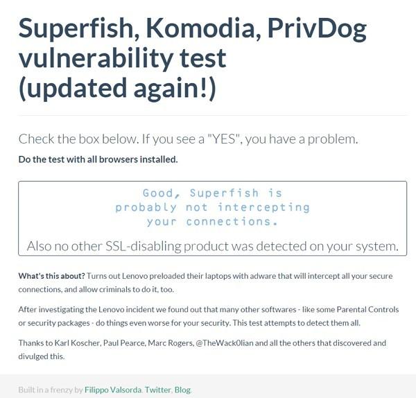 レノボ:「SUPERFISH」がインストールされていないか確認する方法