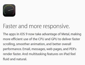 iOS 9の改善点:レスポンスアップ!