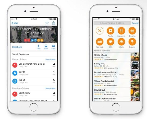 iOS 9の新機能:マップアプリが超進化!