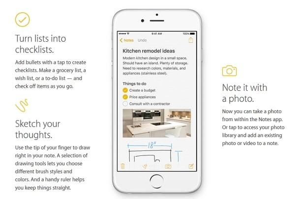 iOS 9の新機能:メモアプリが地味に進化!