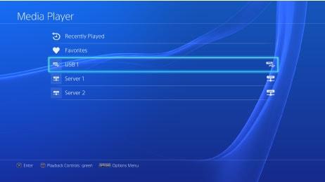 PS4「メディアプレーヤー」の使い方