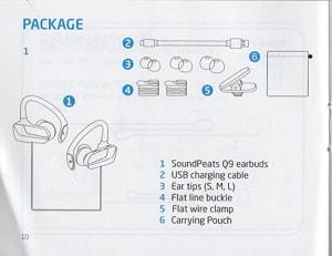 「soundPEATS Q9」簡易日本語説明書