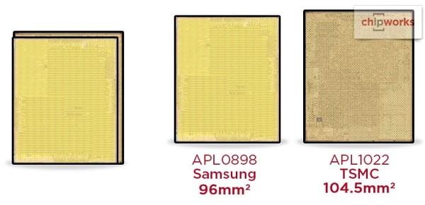 A9プロセッサにはTSMC製とサムスン製の2つある。