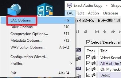 Exact Audio Copyの使い方:日本語化方法解説