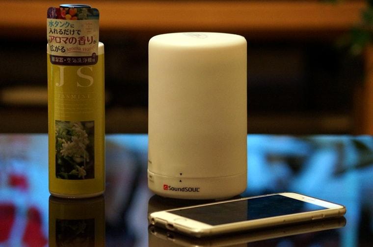 手軽に使えるLED付きアロマ加湿器「SoundSOUL アロマ ディフューザー」