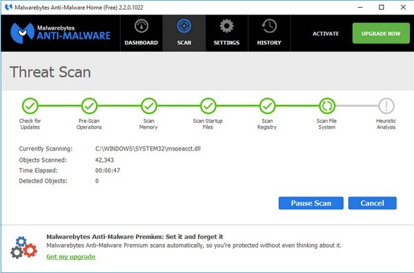 Malwarebytes Anti-Malware Free:マルウェア対策に
