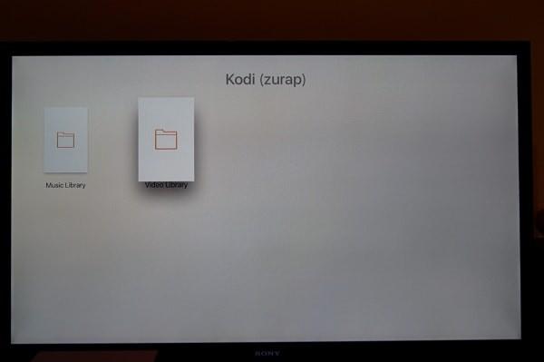 Apple TVの「VLC」アプリを操作し「KODI」を介してパソコンの動画を見る。