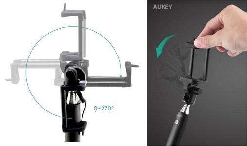 自撮り棒「Aukey HD-P8」の特徴・仕様