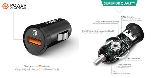 USBカーチャージャー「Aukey CC-T5」の特徴/仕様