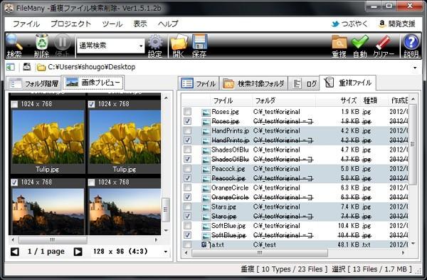 FileMany:重複ファイルを見つけてHDDの空き容量を確保