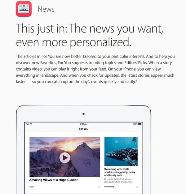 iOS 9.3 Newsアプリが機能強化