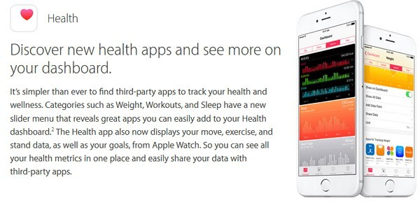 iOS 9.3 ヘルスアプリが機能強化