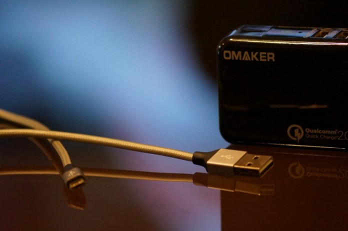 OmakerリバーシブルマイクロUSBケーブル 2本セット レビュー