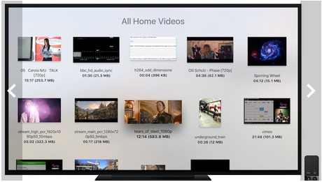 Apple TV:「VLC」アプリ