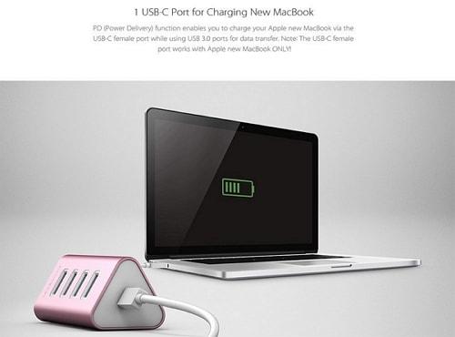 USB Type Cコネクタを搭載したUSB 3.0 ハブ「dodocool DC20」