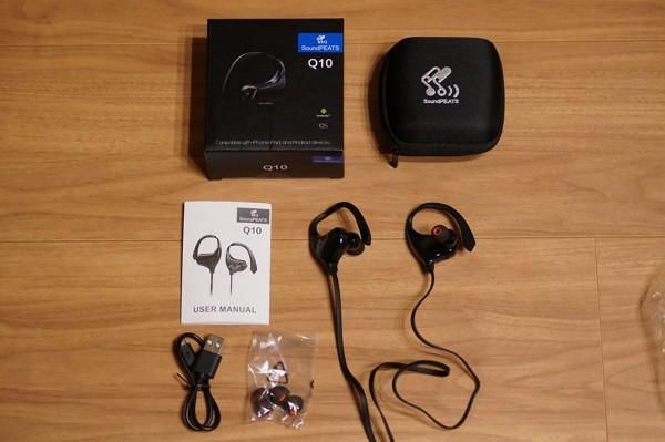 Bluetoothイヤホン「SoundPEATS Q10」のセット内容