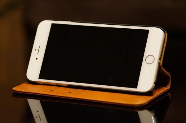本革製「Gelite iPhone 6/ 6s Plus 手帳型ケース」レビュー