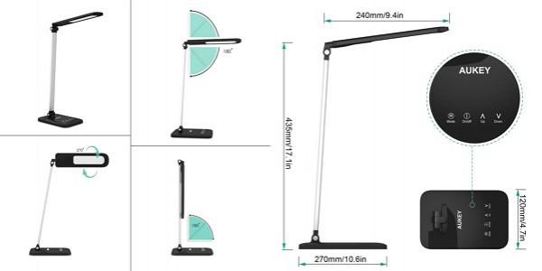 LEDデスクライト「Aukey LT-T9」の仕様/特徴