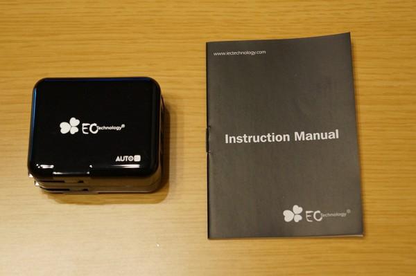 「EC Technology 3ポートUSB急速充電器」のセット内容