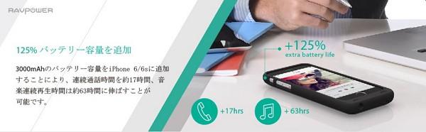 「iPhone 6/ 6s RAVPower 3000mAh バッテリー内蔵ケース」レビューまとめ!