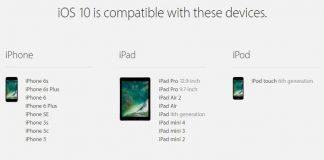 iPhone, iPad:iOS 10対応端末一覧