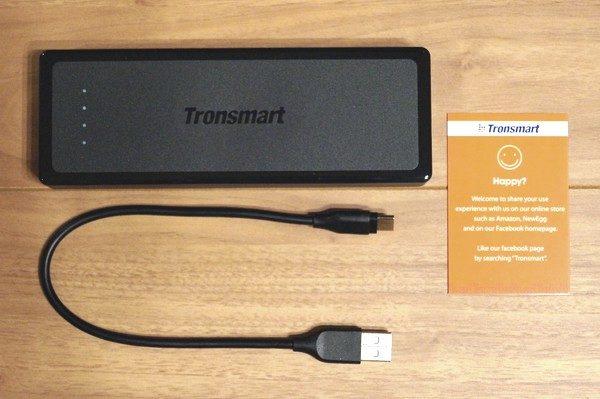 「Tronsmart Presto 12000mAh 大容量モバイルバッテリー」のセット内容