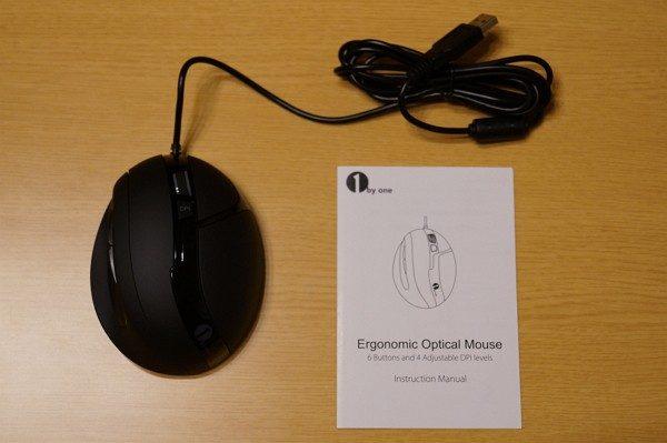 「1byone 有線光学式マウス」のセット内容