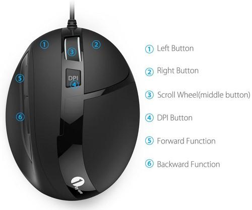 【レビュー】6ボタン/DPI調節機能搭載!「1byone 有線光学式マウス」はシンプルで機能的な、使いやすいおすすめマウス!