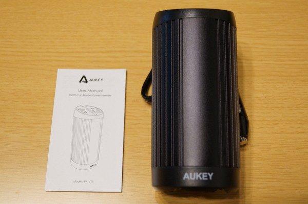 「Aukey 150W カーインバーター/2.1A USB出力ポート PA-V11」のセット内容