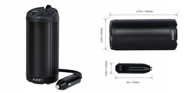 「Aukey 150W カーインバーター/2.1A USB出力ポート PA-V11」の特徴/仕様