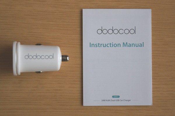 「dodocool 24W 4.8A デュアルUSBカーチャージャー」のセット内容