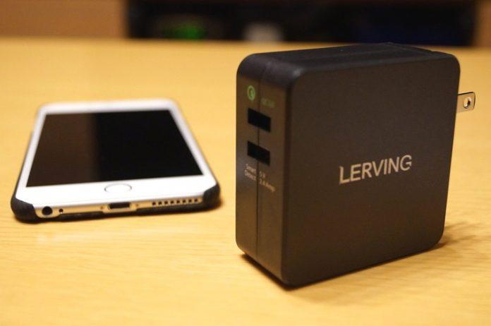 LERVING 30W 2ポート USB超急速充電器レビュー