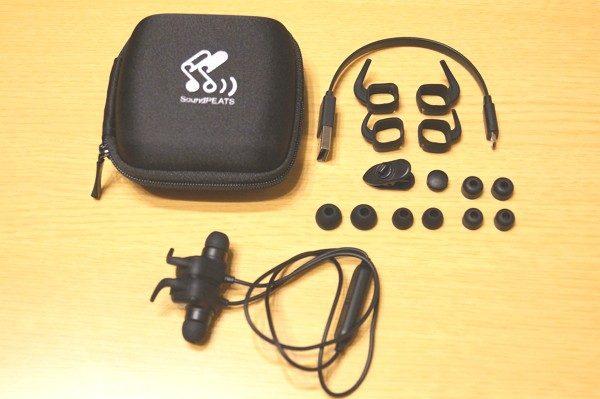 「SoundPEATS Q20 Bluetooth イヤホン」のセット内容