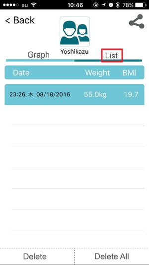 「1byone 体重・体組成計」の使い方/初期設定