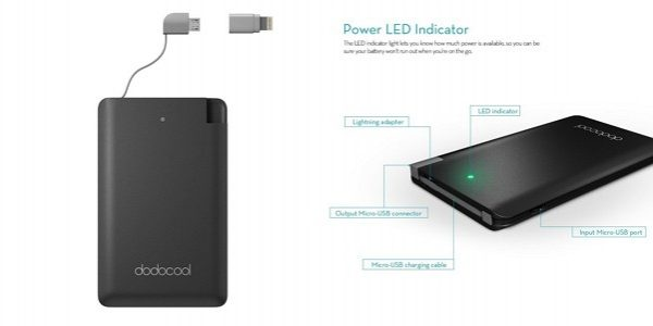 「dodocool モバイルバッテリー 2500mAh DP08」の特徴/仕様