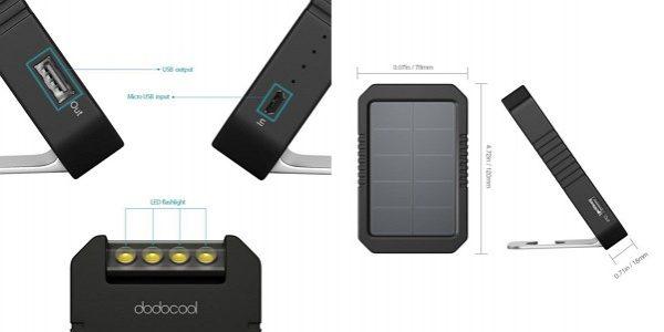 「dodocool ソーラーチャージャー&4200mAhモバイルバッテリー&LEDライト」の特徴/仕様