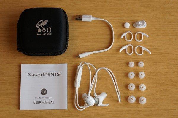 「SoundPEATS Bluetooth イヤホン Q15」のセット内容