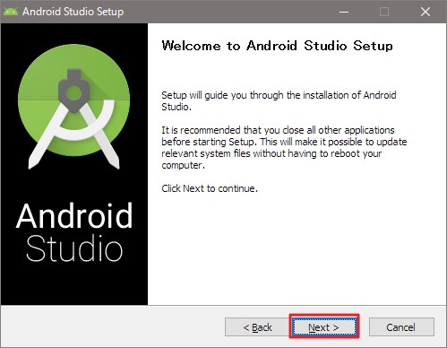 Android SDK/Android Studioのインストール