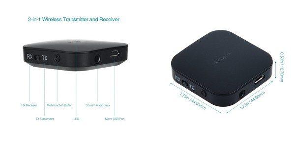 「dodocool 2in1 Bluetoothワイヤレスオーディオ送受信機」の特徴/仕様